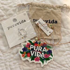 PURA VIDA bracelet NEW wave ring & Eagle bundle